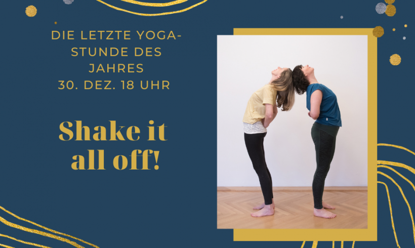 Shake it all off! Yoga & Meditation ONLINE mit Dina & Jenny